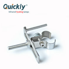 China Twin Tube Quartz IR Lamp Clamps G Clamp Structure With 23*11 Base supplier